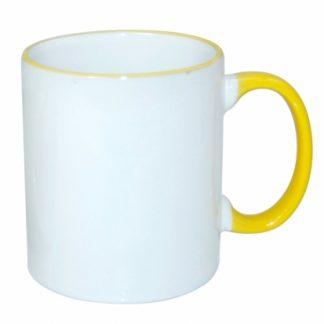 Šolja sa prstenom i ručkom (žuta)